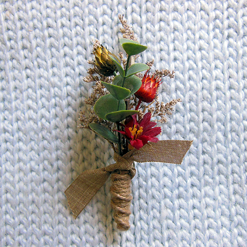 boutonniere complete!